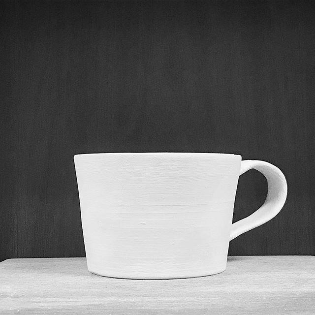 コーヒーカップを再び作陶した写真