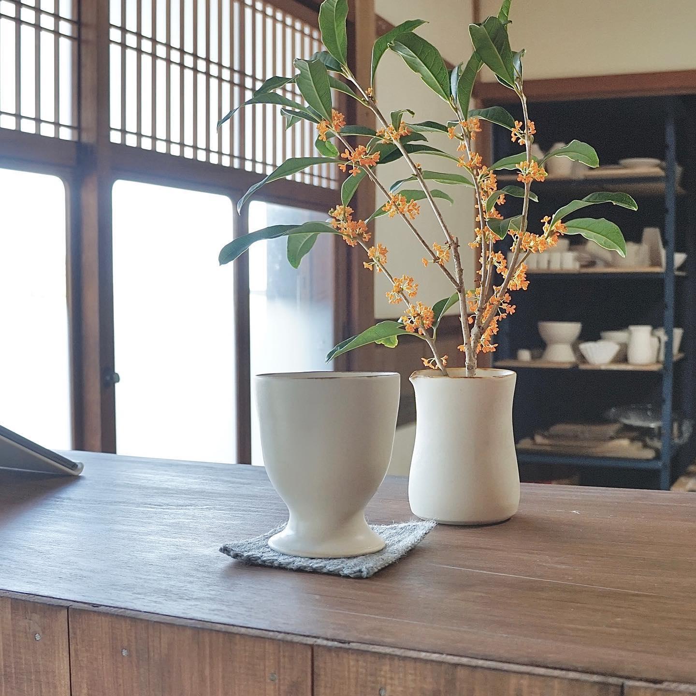 次へNext step.* 事務所兼アトリエ近くに大きな金木犀の木があって、現在ちょうど花盛り。*少しおすそ分けを頂いて癒されました。*その癒しを糧にそろそろ次のステップへ進めたいところ。詳しくはブログにて。*@atelier.mani #アトリエマーニ #うつわ #ハンドメイド #暮らしの道具 #金木犀#ateliermani #pottery #tableware #handmade #fragrant olive